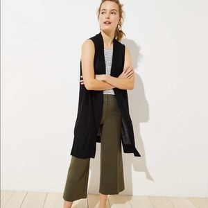 Loft duster sweater vest XS